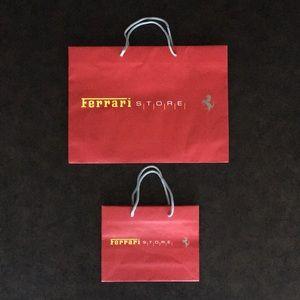 Ferrari Store Shopping Bag Set of 2